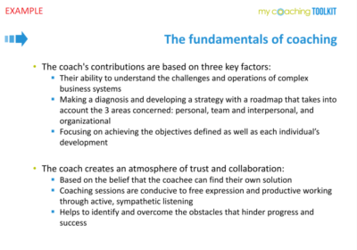 MyCoachingToolkit - Template example - Fundamentals of coaching