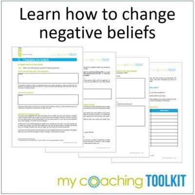 MyCoachingToolkit - Change Negative Beliefs - Square