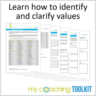 MyCoachingToolkit - Learn to identify values - Square