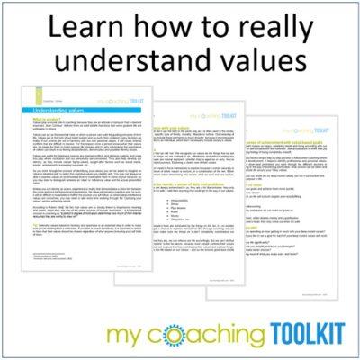 MyCoachingToolkit - Understanding Values - Square