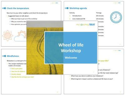 MyCoachingToolkit - Wheel of life Workshop - Presentation example